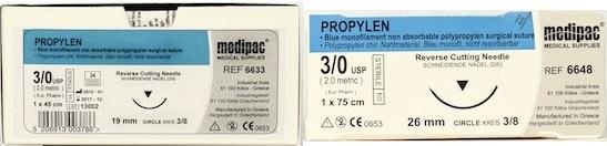 Propylen Suture (Brand Equivalent: Prolene) 24pk