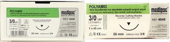 Polyamid Suture (Brand Equivalent: Nylon) 24pk