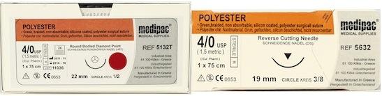 Polyester Suture (Brand Equivalent: Dacron) 24pk