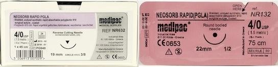 Neosorb Rapid (Brand Equivalent: Vicryl Rapide) 24pk